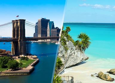 EUA e México: Nova Iorque e Riviera Maya