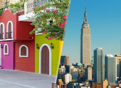 EUA e México: Nova Iorque e Puerto Vallarta