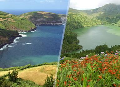 Açores: São Miguel e Faial de avião