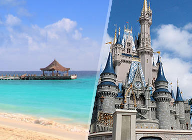 EUA e México: Walt Disney World Orlando e Riviera Maya