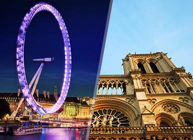França e Inglaterra: Paris e Londres de comboio