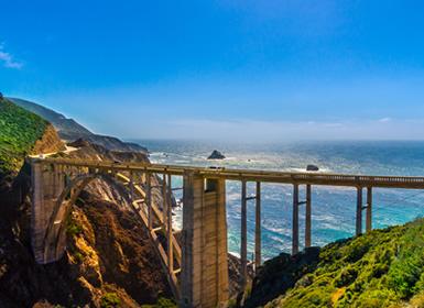 EUA: Costa da Califórnia con Santa Bárbara, San Luis Obispo e Monterey