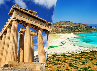 Grécia: Atenas e Creta  de avião