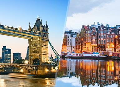 Inglaterra e Noroeste Europa: Londres e Amesterdão de avião