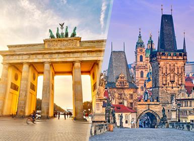 Europa Central: Berlim e Praga  por avião
