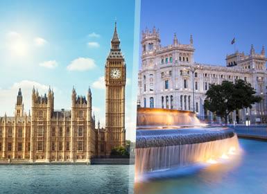 Sul da Europa e Inglaterra: Madrid, Paris e Londres
