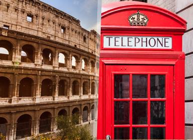 Roma, Paris e Londres Em Detalhe