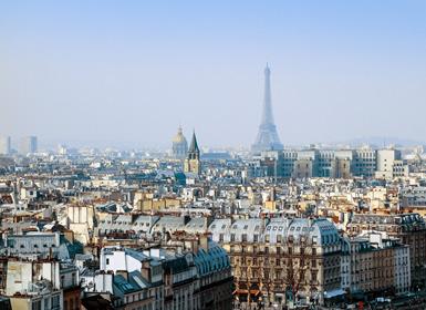 Inglaterra e sul da Europa: Londres, Paris e Roma de avião