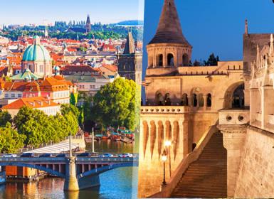 Europa Central: Praga e Budapeste em bus