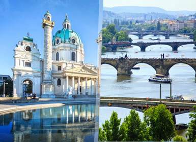 Europa Central: Viena, Budapeste e Praga de comboio