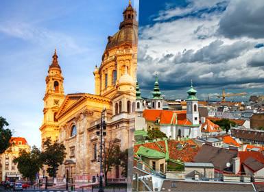 Europa Central: Viena, Praga e Budapeste de comboio