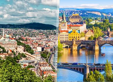 Europa Central: Budapeste, Praga e Viena de comboio