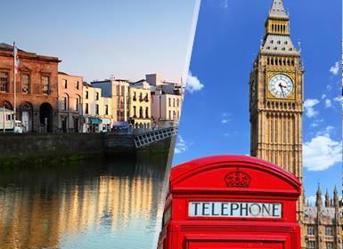 Ilhas Britânicas: Londres e Dublim de avião