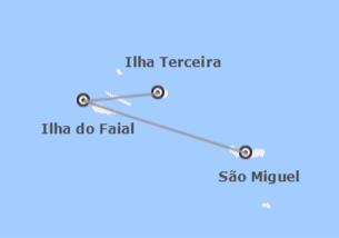 Açores: São Miguel, Faial e Terceira de avião