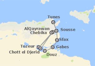 Tunísia: Deserto em 4x4 e praias
