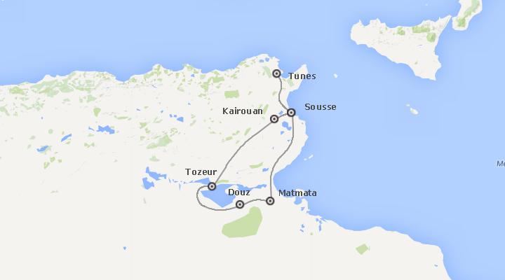 Aventure-se entre os oásis de montanha e relaxe-se nas praias tunisinas