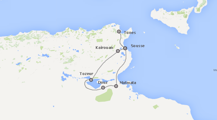 Tunísia: Deserto e Praias Completos Plus