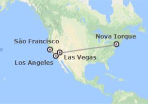 EUA: Nova Iorque, Las Vegas, Los Angeles e São Francisco