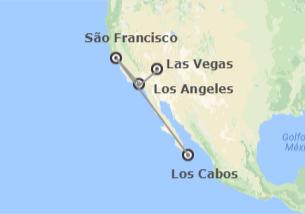 EUA e México: Las Vegas, Los Angeles, São Francisco e Los Cabos