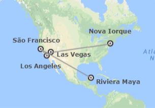 EUA e México: Nova Iorque, Las Vegas, Los Angeles, São Francisco e Riviera Maya