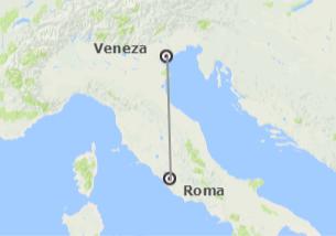 Itália: Roma e Veneza de avião