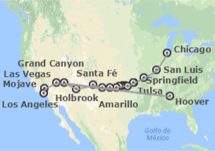 EUA: Route 66, desde Chicago a Los Angeles