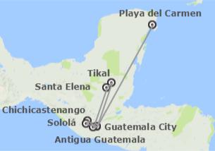 Guatemala e México: Guatemala e Riviera Maya