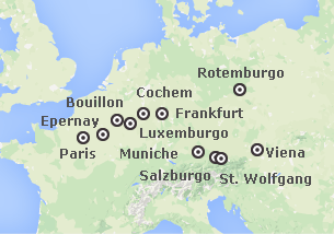 Sul e Centro da Europa: França, Bélgica, Alemanha e Áustria