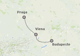 Europa Central: Praga, Viena e Budapeste de comboio