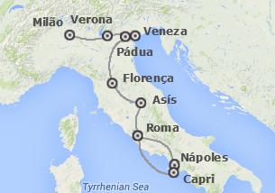 Italia: De Milão a Nápoles e Capri