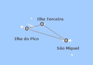 Açores: São Miguel, Terceira e Pico
