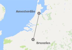 Noroeste da Europa: Bruxelas e Amesterdão de avião