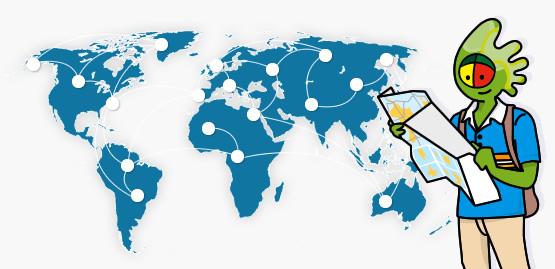 Mapa das rotas