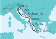 Itinerário do Cruzeiro Croácia, Montenegro, Grécia - Costa Cruzeiros