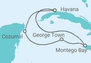 Itinerário do Cruzeiro Cuba, Jamaica, Ilhas Caimão, México - MSC Cruzeiros