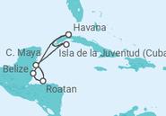Itinerário do Cruzeiro Cuba, Belize, Honduras - MSC Cruzeiros