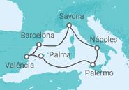 Itinerário do Cruzeiro Espanha, Itália - Costa Cruzeiros