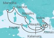 Itinerário do Cruzeiro Itália, Grécia, França - Costa Cruzeiros