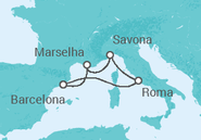 Itinerário do Cruzeiro Itália - Costa Cruzeiros