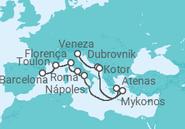 Itinerário do Cruzeiro De Veneza a Barcelona - NCL Norwegian Cruise Line