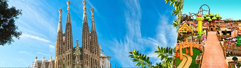 Espanha: Barcelona e Port Aventura, ao seu gosto flexível em noites