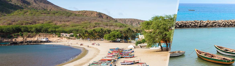 Cabo Verde: Sal e Santiago, ao seu gosto com estadia em praia