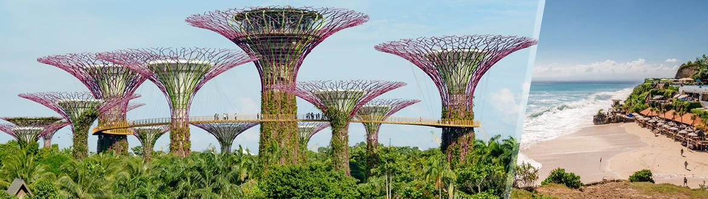 Singapura e Indonésia: Singapura e Bali, ao seu gosto flexível em noites