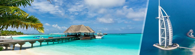 Emirados Árabes e Ilhas do Índico: Dubai e Maldivas, ao seu gosto com estadia em praia