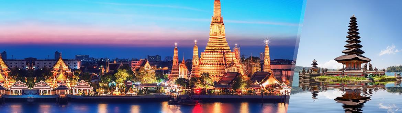 Tailândia e Indonésia: Banguecoque e Bali, ao seu gosto flexível em noites