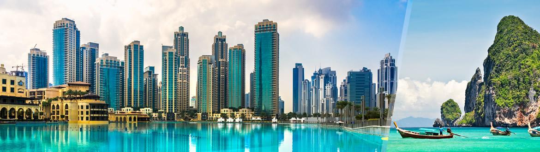 Emirados Árabes e Tailândia: Dubai e Phuket, ao seu gosto com estadia em praia