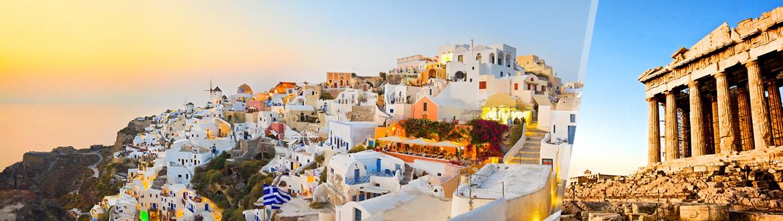 Grécia: Atenas e Santorini de avião, ao seu gosto com estadia em praia