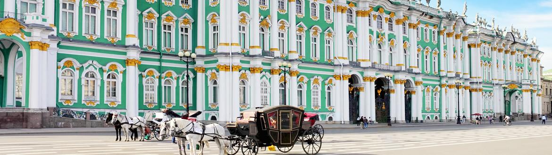 Rússia: Moscovo e São Petersburgo comboio diurno, estadia com visita