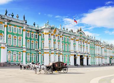Rússia: Moscovo e São Petersburgo comboio diurno
