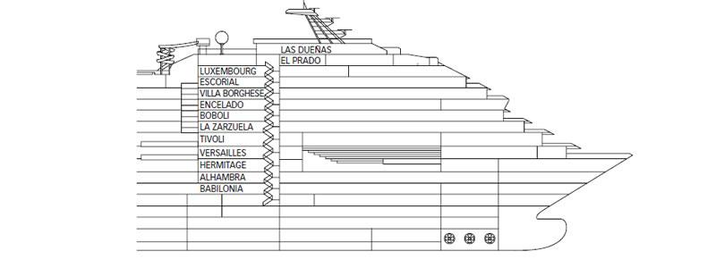 Decks do navio costa favolosa costa cruzeiros logitravel for Costa deliziosa ponti